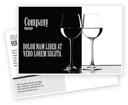Careers/Industry: Black and White Postcard Template #05226