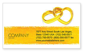 Holiday/Special Occasion: Wedding Day Business Card Template #05229