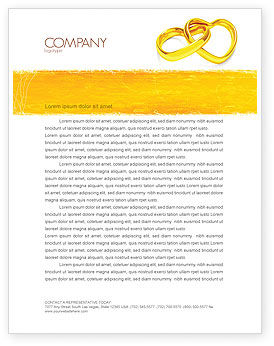 Holiday/Special Occasion: Wedding Day Letterhead Template #05229