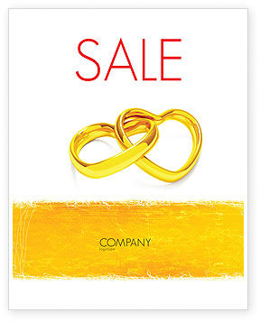 Wedding Day Sale Poster Template, 05229, Holiday/Special Occasion — PoweredTemplate.com
