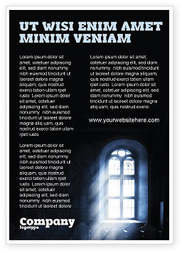 Religious/Spiritual: Raam In De Kerk Advertentie Template #05230