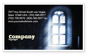 Window In the Church Business Card Template, 05230, Religious/Spiritual — PoweredTemplate.com