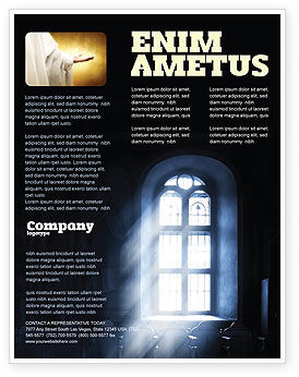 Religious/Spiritual: Window In the Church Flyer Template #05230