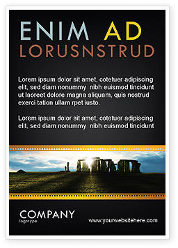 Flags/International: Stonehenge Advertentie Template #05232
