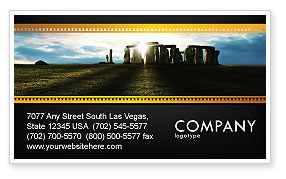 Stonehenge Business Card Template, 05232, Flags/International — PoweredTemplate.com