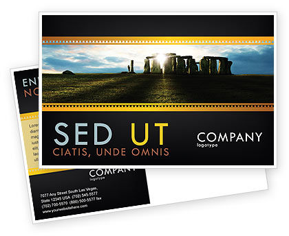 Stonehenge Postcard Template, 05232, Flags/International — PoweredTemplate.com