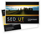Flags/International: Stonehenge Postcard Template #05232