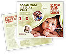 People: Baby Under Blanket Brochure Template #05234