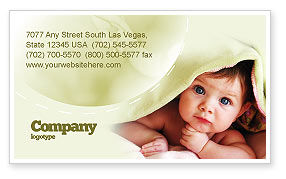 Baby Under Blanket Business Card Template, 05234, People — PoweredTemplate.com