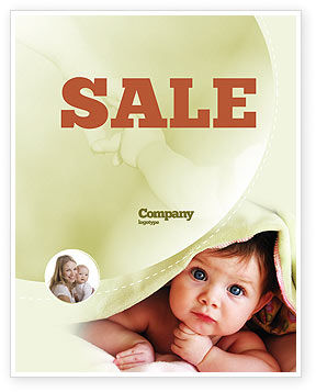 People: Baby Under Blanket Sale Poster Template #05234