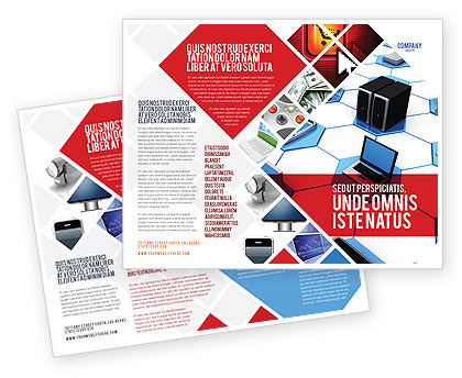 Wholesale Electronics Brochure Template, 05235, Technology, Science & Computers — PoweredTemplate.com