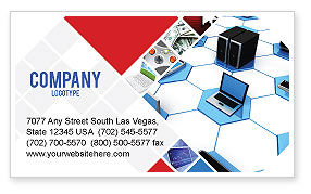 Wholesale Electronics Business Card Template, 05235, Technology, Science & Computers — PoweredTemplate.com