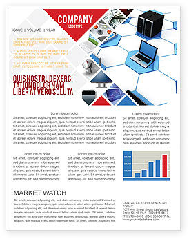 Wholesale Electronics Newsletter Template, 05235, Technology, Science & Computers — PoweredTemplate.com