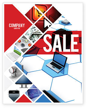 Wholesale Electronics Sale Poster Template, 05235, Technology, Science & Computers — PoweredTemplate.com