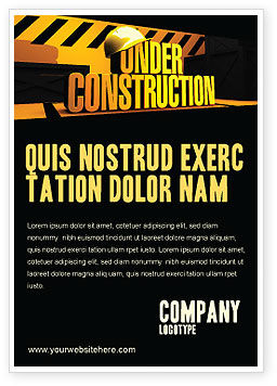 Business Concepts: Closed Under Construction Ad Template #05236