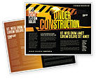 Business Concepts: Closed Under Construction Brochure Template #05236