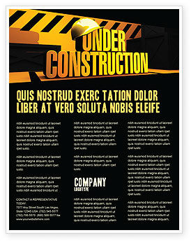 Business Concepts: Closed Under Construction Flyer Template #05236
