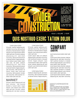 closed under construction newsletter template for microsoft word
