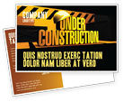 Business Concepts: Closed Under Construction Postcard Template #05236