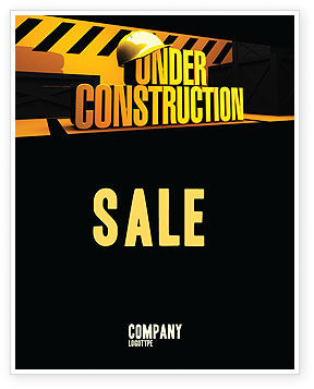 Closed Under Construction Sale Poster Template