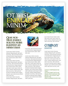 Agriculture and Animals: Sea Turtle Flyer Template #05237