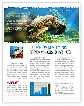 Sea Turtle Newsletter Template