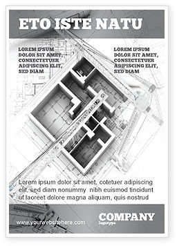 Home Remodeling Plan Ad Template, 05239, Construction — PoweredTemplate.com