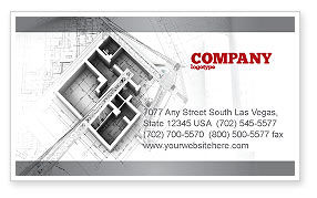 Construction: Home Remodeling Plan Business Card Template #05239