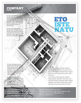 Construction: Home Remodeling Plan Flyer Template #05239