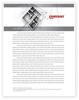 Construction: Home Remodeling Plan Letterhead Template #05239