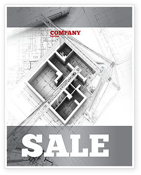 Home Remodeling Plan Sale Poster Template, 05239, Construction — PoweredTemplate.com
