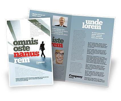 Business: Walking Man Brochure Template #05240