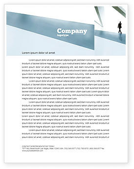 Walking Man Letterhead Template, 05240, Business — PoweredTemplate.com