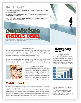 Business: Walking Man Newsletter Template #05240