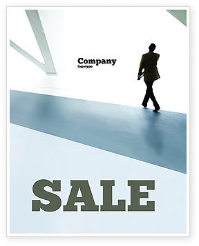 Walking Man Sale Poster Template, 05240, Business — PoweredTemplate.com