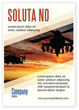 Military: Gevechtshelikopter Advertentie Template #05247