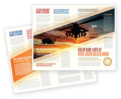 Military: Gevechtshelikopter Brochure Template #05247