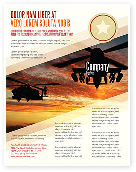 Military: Attack Helicopter Flyer Template #05247