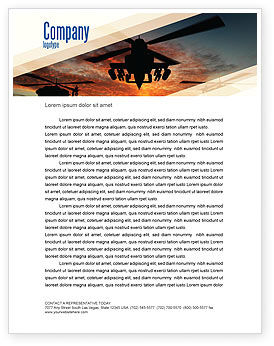 Attack Helicopter Letterhead Template, 05247, Military — PoweredTemplate.com