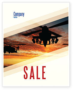 Military: Attack Helicopter Sale Poster Template #05247