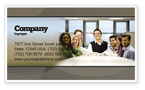 Business: Working Group Business Card Template #05248