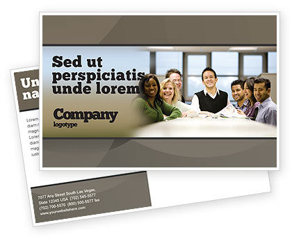Business: Working Group Postcard Template #05248