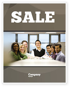 Working Group Sale Poster Template, 05248, Business — PoweredTemplate.com