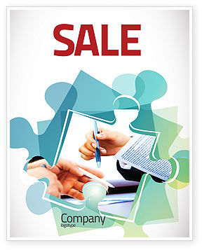 Negotiation In Progress Sale Poster Template, 05249, Business — PoweredTemplate.com