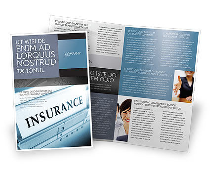 Insurance Brochure Template, 05253, Careers/Industry — PoweredTemplate.com