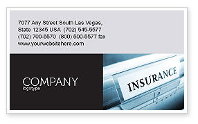 Careers/Industry: Insurance Business Card Template #05253