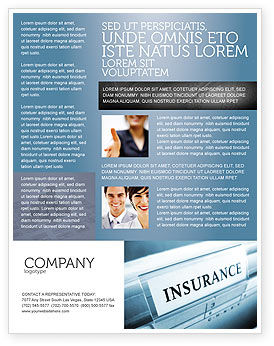 Insurance Flyer Template, 05253, Careers/Industry — PoweredTemplate.com