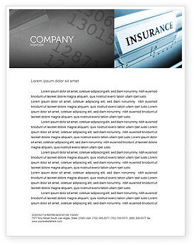 Insurance Letterhead Template, 05253, Careers/Industry — PoweredTemplate.com