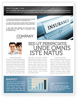 Insurance Newsletter Template, 05253, Careers/Industry — PoweredTemplate.com