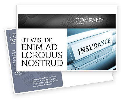 Insurance Postcard Template, 05253, Careers/Industry — PoweredTemplate.com